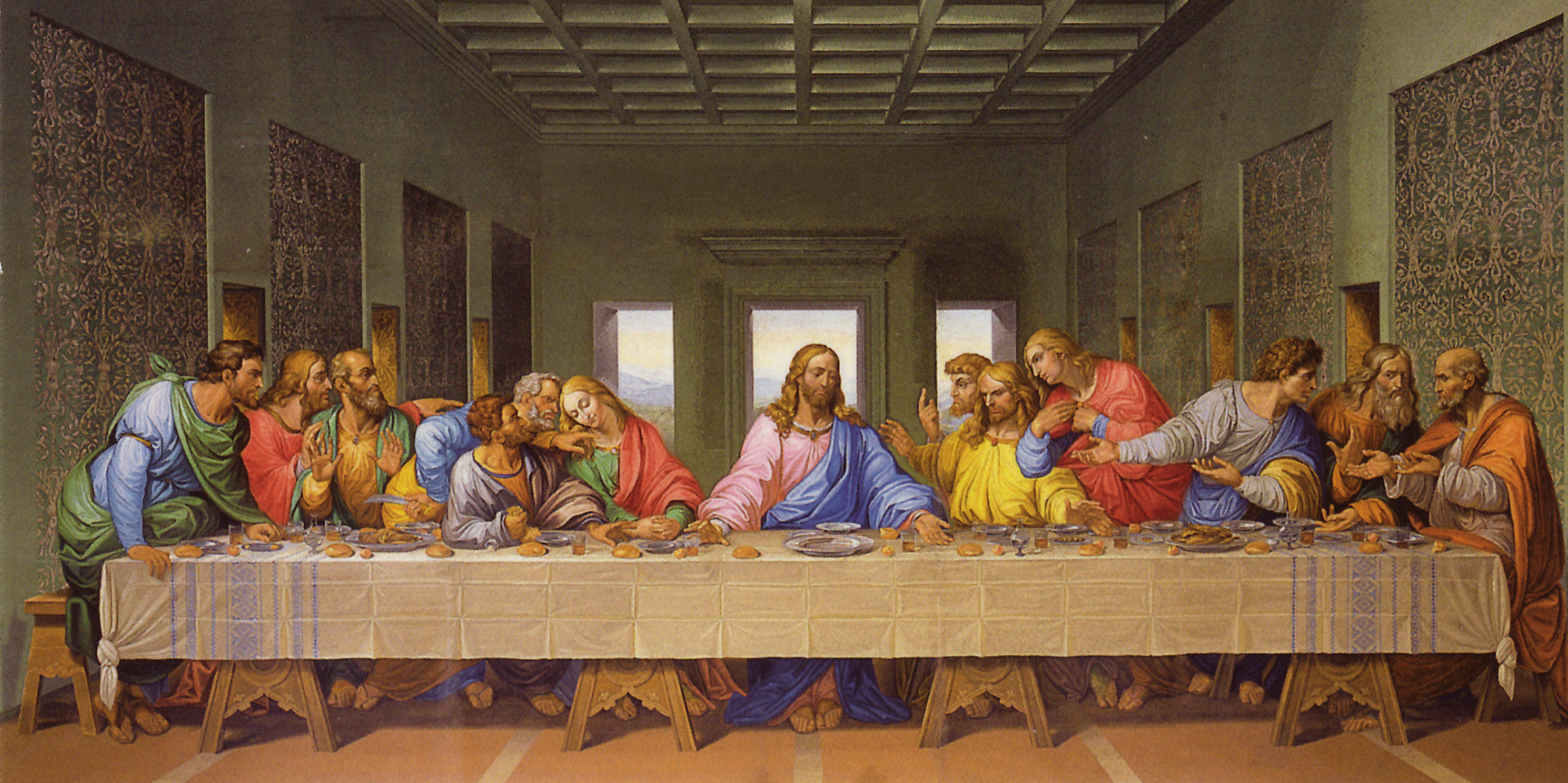 The Last Supper By Leonardo Da Vinci Original | Car ... Da Vinci Last Supper Restored